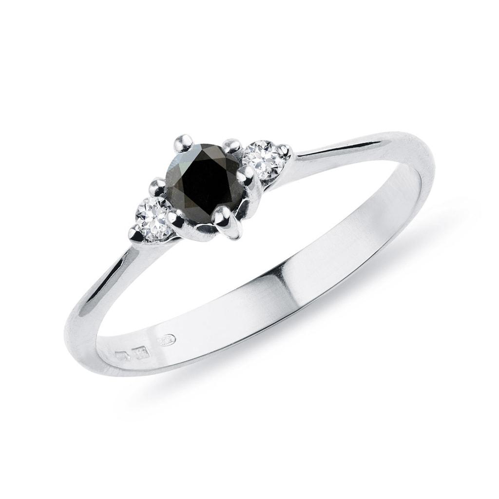c723bfbdc Stříbrný prsten s černým diamantem | KLENOTA
