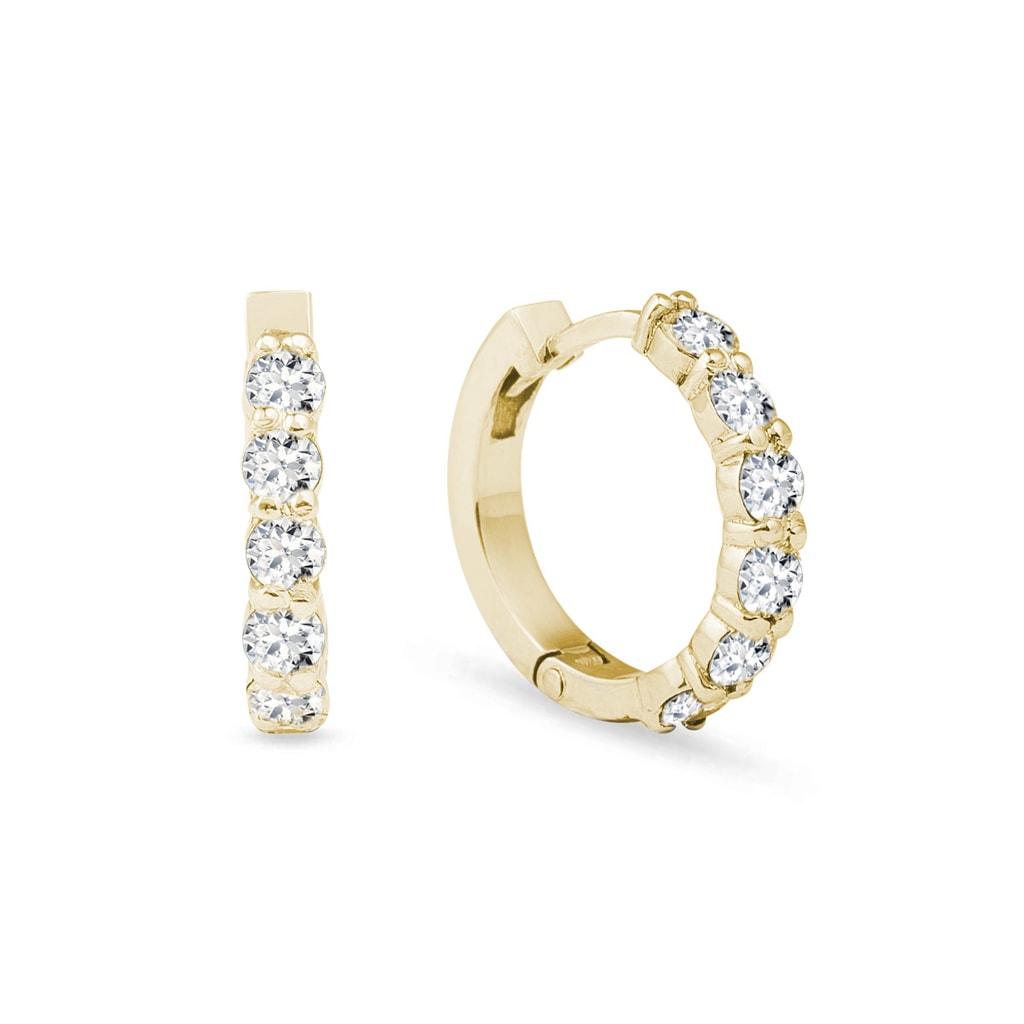 201931664 Náušnice zo žltého zlata s diamantmi | KLENOTA