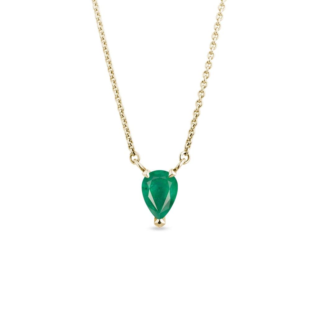 70bfe5dca Zlatý náhrdelník se smaragdem | KLENOTA