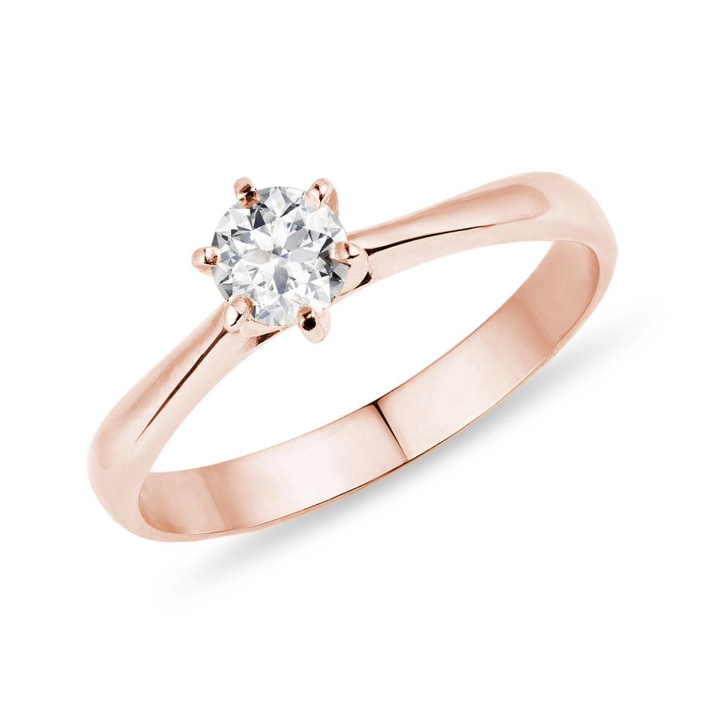 f10857698 Zásnubný prsteň z ružového zlata | KLENOTA