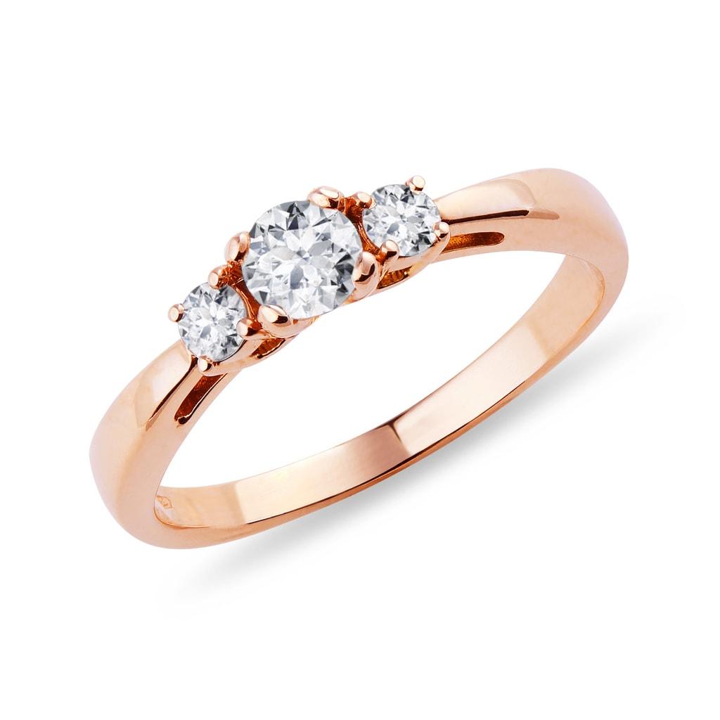 2e6b20c50742e4 Pierścionek zaręczynowy z różowego złota z diamentem | KLENOTA