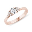 Luxury diamond ring in pink gold