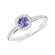 TANZANITE AND DIAMOND ENGAGEMENT RING - TANZANITE RINGS{% if category.pathNames[0] != product.category.name %} - {% endif %}