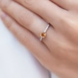 CITRIN RING MIT DIAMANTEN IN WEISSGOLD - RINGE CITRIN - RINGE