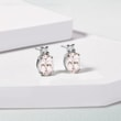 Delicate morganite earrings in white gold