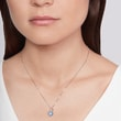 TOPAZ PENDANT IN 14KT WHITE GOLD - TOPAZ NECKLACES - NECKLACES