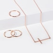 ROSE GOLD CROSS PENDANT - ROSEGOLD NECKLACES - NECKLACES