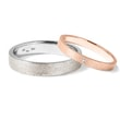 Wedding rings in rose and white gold