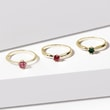 TOURMALINE RING IN YELLOW GOLD - TOURMALINE RINGS - RINGS