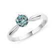 Blue diamond engagement ring in white gold