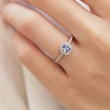 Engagement ring with tanzanite and diamonds