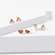 Triangle stud earrings in rose gold