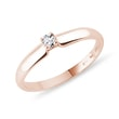 ROSE GOLD RING WITH A DIAMOND - SOLITAIRE ENGAGEMENT RINGS{% if category.pathNames[0] != product.category.name %} - {% endif %}