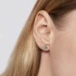 Emerald earrings in 14kt gold