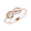 Diamond infinity ring made of rose gold