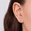 DIAMOND EARRINGS IN GOLD - DIAMOND EARRINGS - EARRINGS