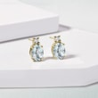 Boucles d'oreilles en or avec aigue-marines et diamants