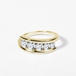 Diamond ring of yellow gold