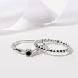 Black diamond ring in white gold