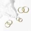 25 MM OHRRINGE IN GELBGOLD - OHRRINGE GELBGOLD -