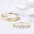 Alliances de mariage en or jaune et diamants