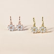 CUBIC ZIRCONIA EARRINGS IN ROSE GOLD - CHILDREN'S EARRINGS -