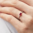 Ruby diamond and diamond ring in white gold