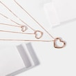 Heart-shaped necklace in pink gold