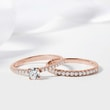 DIAMOND ENGAGEMENT RING IN ROSE GOLD - WOMEN'S WEDDING RINGS -