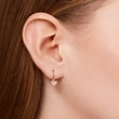 Heart-shaped earrings in rose gold