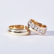 Wedding ring with diamonds in yellow gold