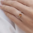 Citrine ring with diamonds