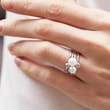 RING WITH A BALL OF WHITE GOLD - WHITE GOLD RINGS -