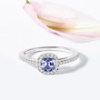 TANZANITE AND DIAMOND ENGAGEMENT RING - TANZANITE RINGS -