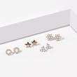 Star-shaped diamond earrings in rose gold