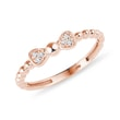 Diamond bow ring in rose gold