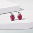 Diamond and ruby earrings in white gold