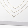 DIAMOND CHARM IN 14KT GOLD - DIAMOND NECKLACES -