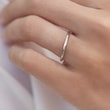 Delicate ring made of white gold