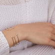 BRACELET EN OR AVEC DIAMANTS LUNETTE - BRACELETS AVEC DIAMANTS -