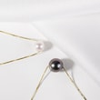 Tahitian pearl necklace in 14kt gold