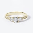 DIAMOND RING IN GOLD - ENGAGEMENT DIAMOND RINGS - ENGAGEMENT RINGS