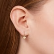 Heart-shaped yellow gold earrings