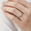 DIAMOND ENGAGEMENT RING OF ROSE GOLD - ENGAGEMENT DIAMOND RINGS - ENGAGEMENT RINGS
