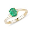 EMERALD AND DIAMOND RING IN 14KT GOLD - EMERALD RINGS{% if kategorie.adresa_nazvy[0] != zbozi.kategorie.nazev %} - RINGS{% endif %}