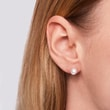 Akoya pearl earrings in white gold