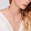 AKOYA PEARL NECKLACE IN YELLOW GOLD - PEARL NECKLACES - PEARL JEWELRY