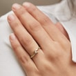 MINIMALIST DIAMOND RING IN YELLOW GOLD - DIAMOND RINGS - RINGS