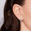 EMERALD EARRINGS IN 14KT WHITE GOLD - EMERALD EARRINGS - EARRINGS