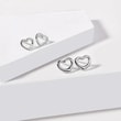 Heart earrings in white gold